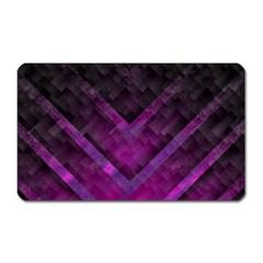 Purple Background Wallpaper Motif Design Magnet (rectangular)