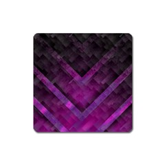 Purple Background Wallpaper Motif Design Square Magnet