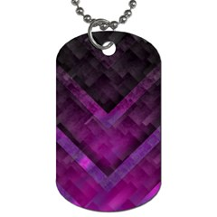 Purple Background Wallpaper Motif Design Dog Tag (two Sides)