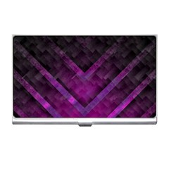 Purple Background Wallpaper Motif Design Business Card Holders