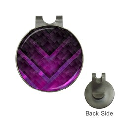 Purple Background Wallpaper Motif Design Hat Clips With Golf Markers