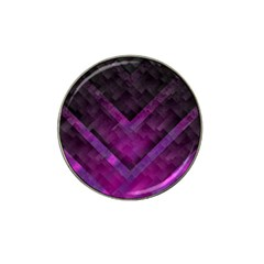 Purple Background Wallpaper Motif Design Hat Clip Ball Marker