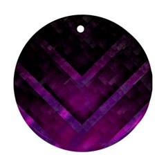Purple Background Wallpaper Motif Design Round Ornament (two Sides)