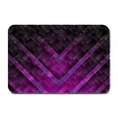 Purple Background Wallpaper Motif Design Plate Mats