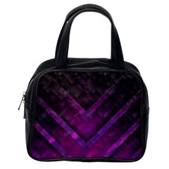 Purple Background Wallpaper Motif Design Classic Handbags (one Side)