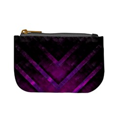 Purple Background Wallpaper Motif Design Mini Coin Purses