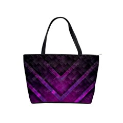 Purple Background Wallpaper Motif Design Shoulder Handbags