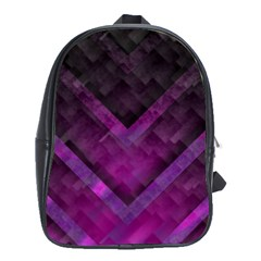 Purple Background Wallpaper Motif Design School Bags(large)