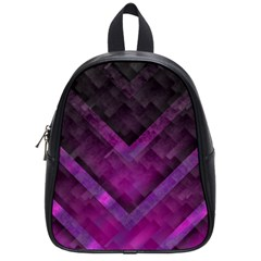 Purple Background Wallpaper Motif Design School Bags (small)