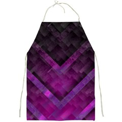 Purple Background Wallpaper Motif Design Full Print Aprons