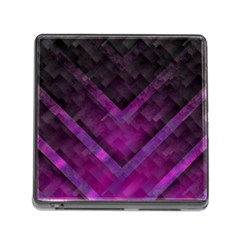 Purple Background Wallpaper Motif Design Memory Card Reader (square)