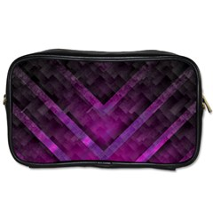 Purple Background Wallpaper Motif Design Toiletries Bags