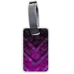 Purple Background Wallpaper Motif Design Luggage Tags (two Sides)
