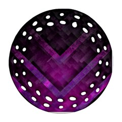 Purple Background Wallpaper Motif Design Ornament (round Filigree)