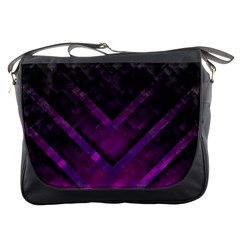 Purple Background Wallpaper Motif Design Messenger Bags