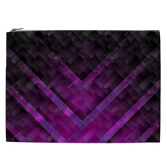 Purple Background Wallpaper Motif Design Cosmetic Bag (xxl)