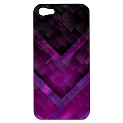 Purple Background Wallpaper Motif Design Apple Iphone 5 Hardshell Case