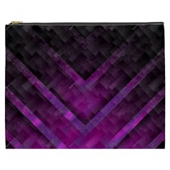 Purple Background Wallpaper Motif Design Cosmetic Bag (xxxl)