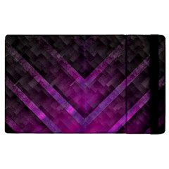 Purple Background Wallpaper Motif Design Apple Ipad 2 Flip Case
