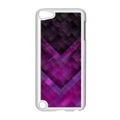 Purple Background Wallpaper Motif Design Apple Ipod Touch 5 Case (white)
