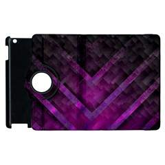 Purple Background Wallpaper Motif Design Apple iPad 2 Flip 360 Case
