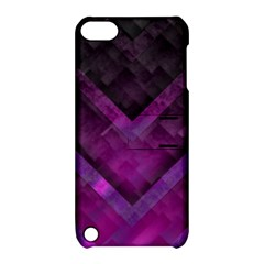 Purple Background Wallpaper Motif Design Apple Ipod Touch 5 Hardshell Case With Stand