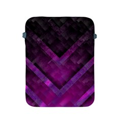 Purple Background Wallpaper Motif Design Apple Ipad 2/3/4 Protective Soft Cases
