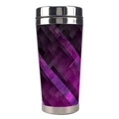Purple Background Wallpaper Motif Design Stainless Steel Travel Tumblers