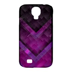 Purple Background Wallpaper Motif Design Samsung Galaxy S4 Classic Hardshell Case (pc+silicone)