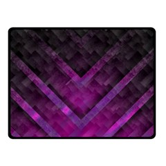 Purple Background Wallpaper Motif Design Double Sided Fleece Blanket (small)