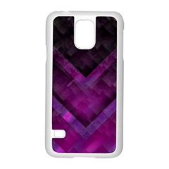 Purple Background Wallpaper Motif Design Samsung Galaxy S5 Case (white)