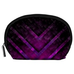 Purple Background Wallpaper Motif Design Accessory Pouches (large)