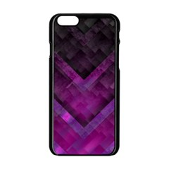Purple Background Wallpaper Motif Design Apple Iphone 6/6s Black Enamel Case