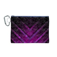 Purple Background Wallpaper Motif Design Canvas Cosmetic Bag (m)