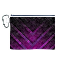 Purple Background Wallpaper Motif Design Canvas Cosmetic Bag (l)