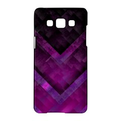 Purple Background Wallpaper Motif Design Samsung Galaxy A5 Hardshell Case