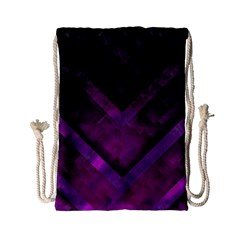 Purple Background Wallpaper Motif Design Drawstring Bag (small)