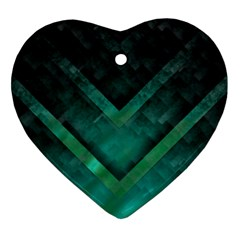 Green Background Wallpaper Motif Design Ornament (heart)