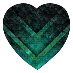 Green Background Wallpaper Motif Design Jigsaw Puzzle (heart)