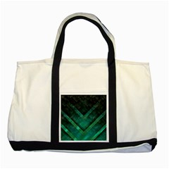 Green Background Wallpaper Motif Design Two Tone Tote Bag