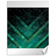 Green Background Wallpaper Motif Design Canvas 12  X 16