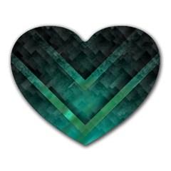 Green Background Wallpaper Motif Design Heart Mousepads
