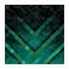 Green Background Wallpaper Motif Design Medium Glasses Cloth (2 Side)