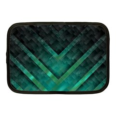 Green Background Wallpaper Motif Design Netbook Case (medium)
