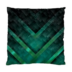 Green Background Wallpaper Motif Design Standard Cushion Case (one Side)