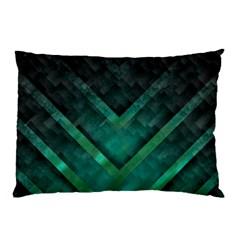 Green Background Wallpaper Motif Design Pillow Case