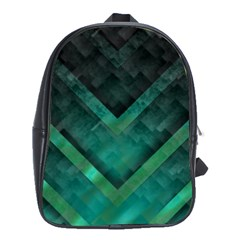 Green Background Wallpaper Motif Design School Bags(large)