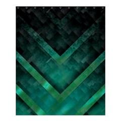 Green Background Wallpaper Motif Design Shower Curtain 60  X 72  (medium)