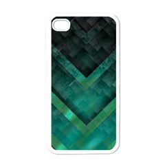 Green Background Wallpaper Motif Design Apple Iphone 4 Case (white)