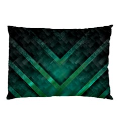 Green Background Wallpaper Motif Design Pillow Case (two Sides)